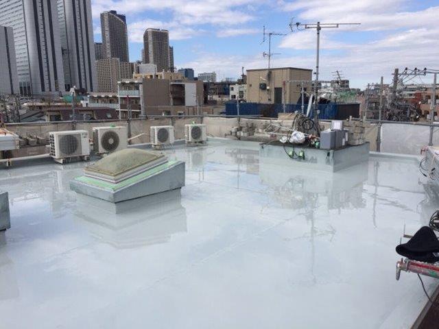 川崎市中原区のYビル 屋上の防水工事施工後