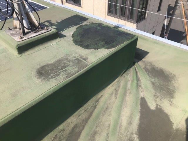 川崎市中原区のYビル 屋上の防水工事施工前