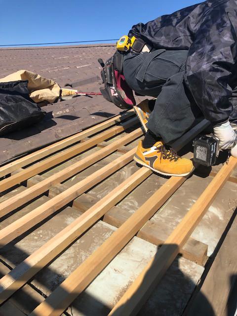 屋根下地取替と屋根塗装工事|東京都多摩市の某マンションにて改修工事施工写真4