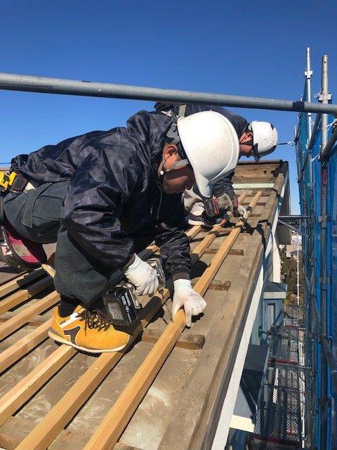 屋根の改修工事 東京都多摩市の某マンションにて外装リフォーム施工後