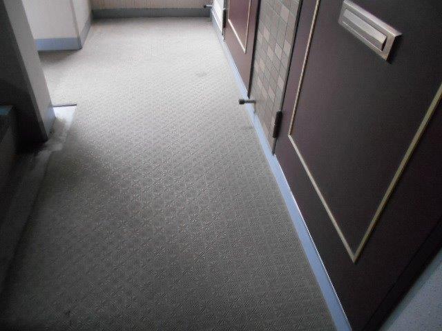 マンション共用部の定期清掃|横浜市西区のBマンションにて巡回清掃施工写真4